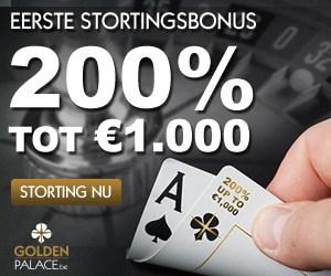 Poker met 200% bonus tot €1000